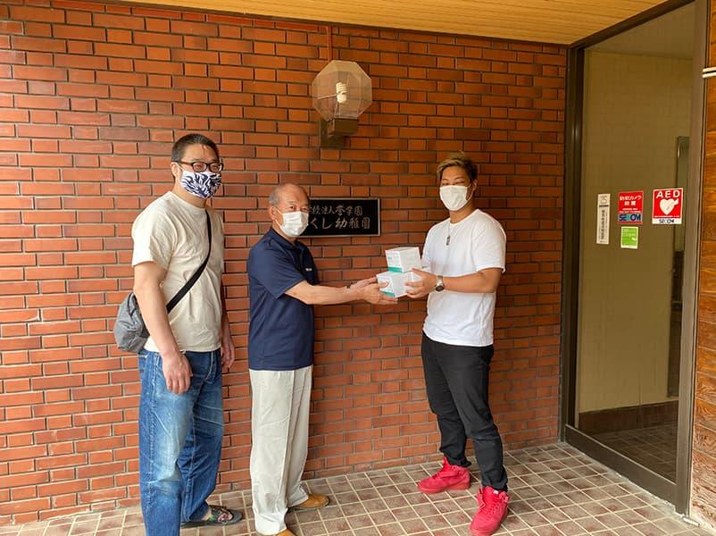 東京都学校法人誉学園つくし幼稚園マスク寄贈