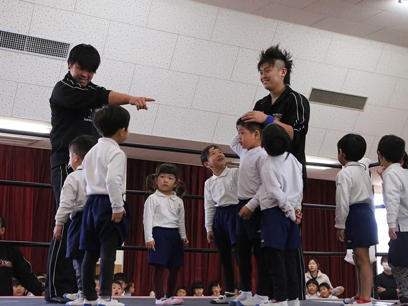 神埼こども園プロレスを通したいのちを学ぶ教室